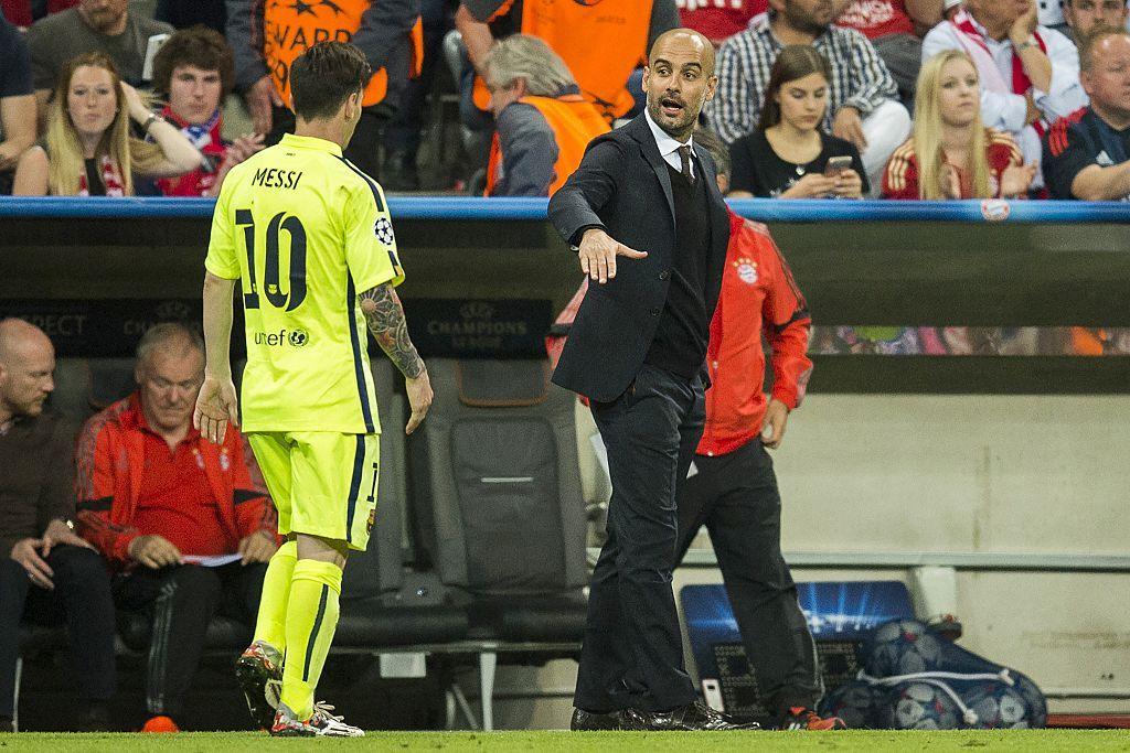 Messi and Guardiola
