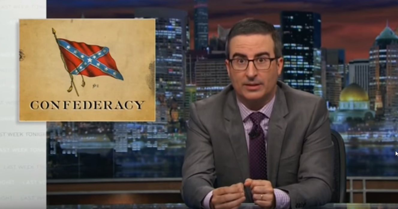 John Oliver takes down defense of Confederate monuments