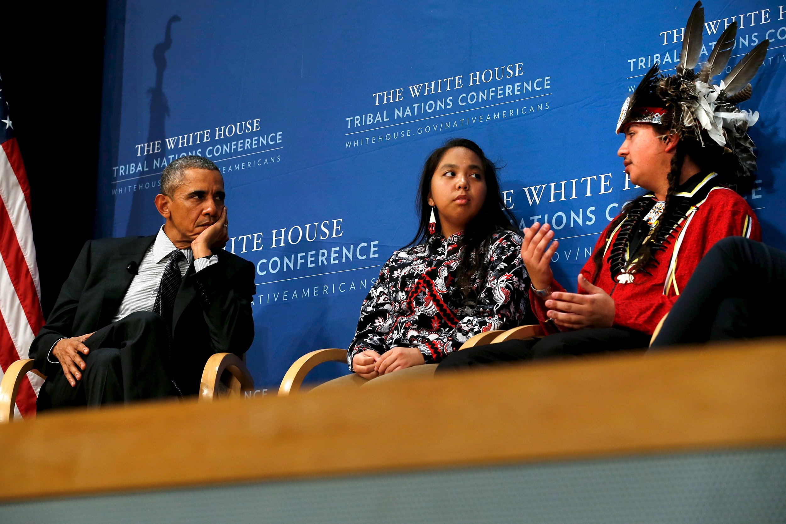 Obama and St. Regis Mohawk Tribe