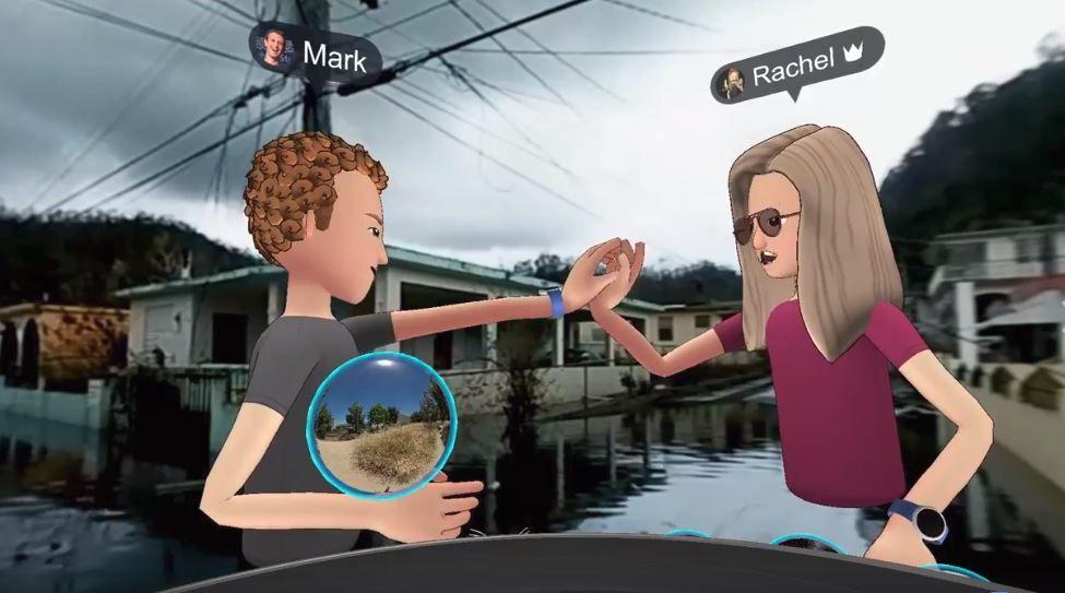 mark zuckerberg VR puerto rico stunt