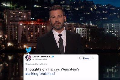 Kimmel roasts Trump Jr. over Weinstein tweet