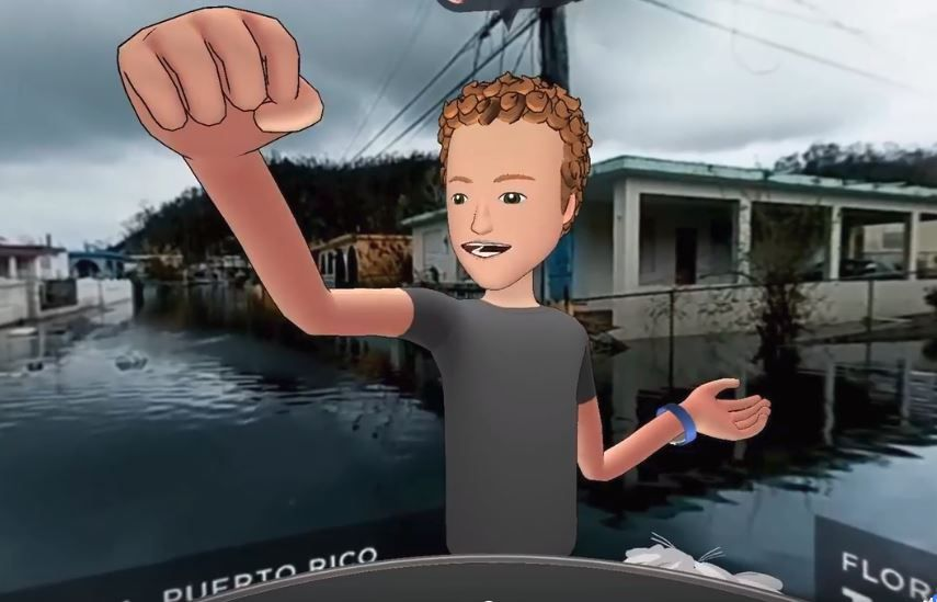 zuckerberg virtual reality puerto rico hurricane