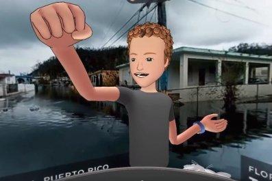 zuckerberg virtual reality puerto rico hurricane