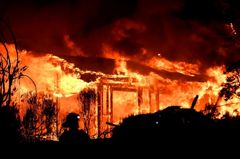 Burning_Structure_Wildfire_Napa_California