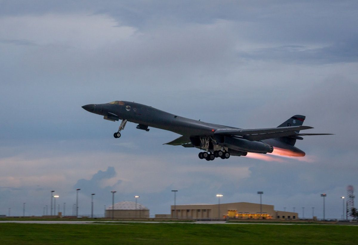U.S. bombers conducted drills over the Korean Peninsula last night