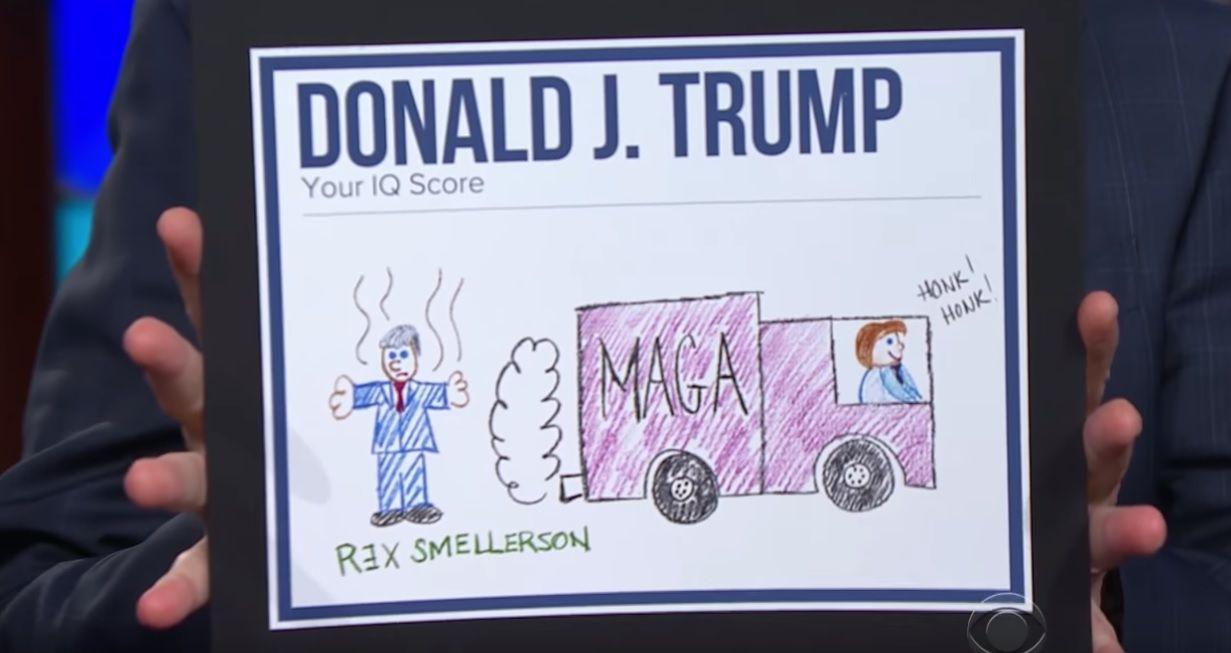 Trump's IQ revealed by Stephen Colbert