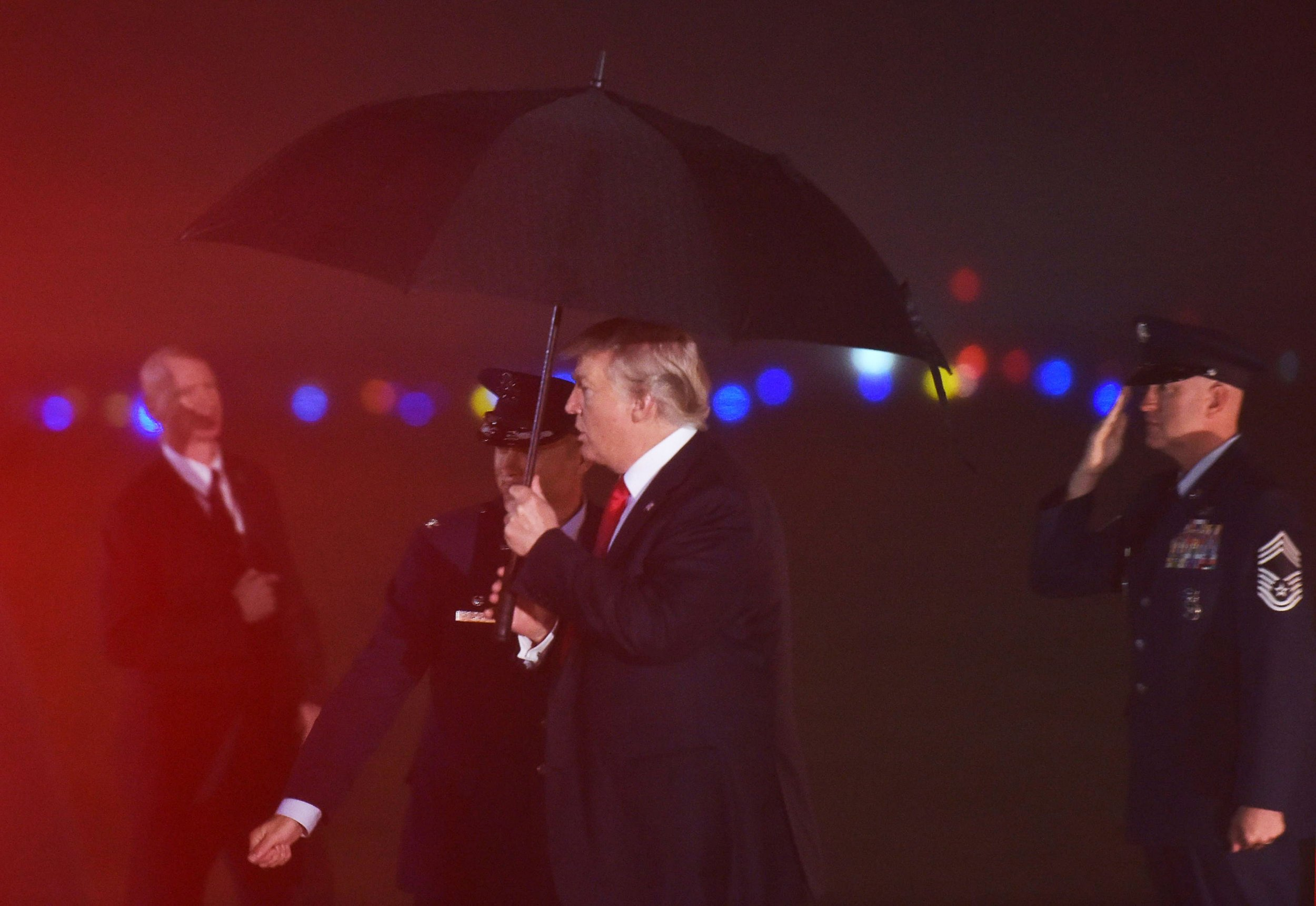 After NFL Kneeling Controversy, Trump Talks Through Retreat Bugle That Honors Military