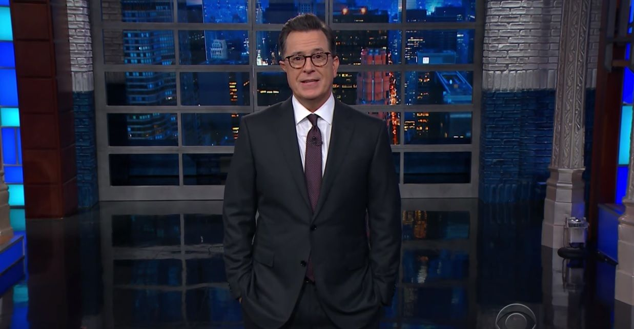 Colbert calls out Trump's fake news