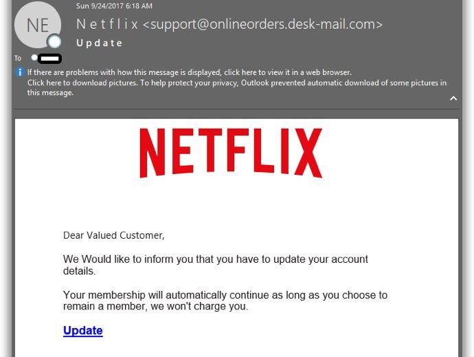 netflix hackers steal credit card info