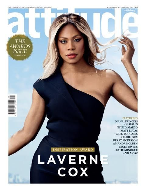 Laverne Cox on the cover of Attitude magazine