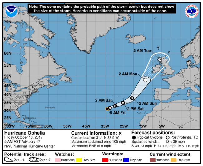 Hurricane Ophelia: What a Tropical Storm Is Doing in Europe