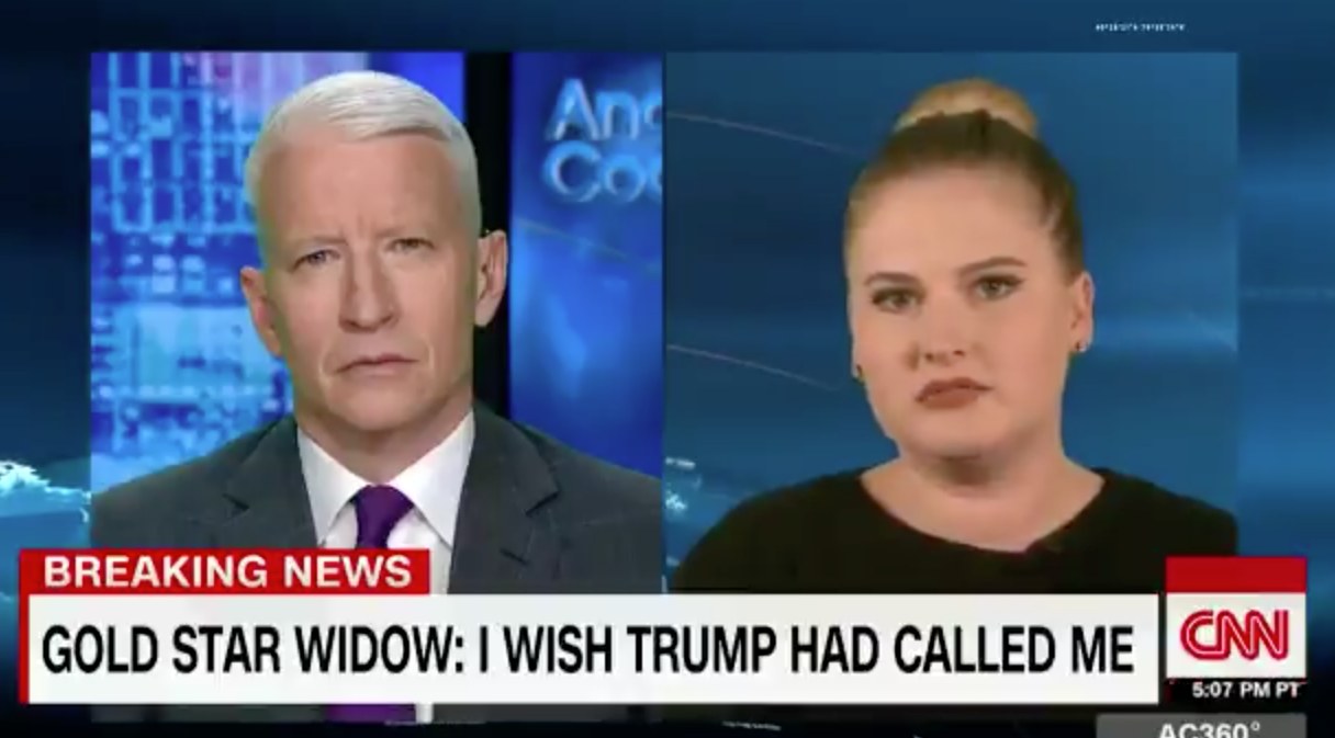 Gold Star widow on Anderson Cooper