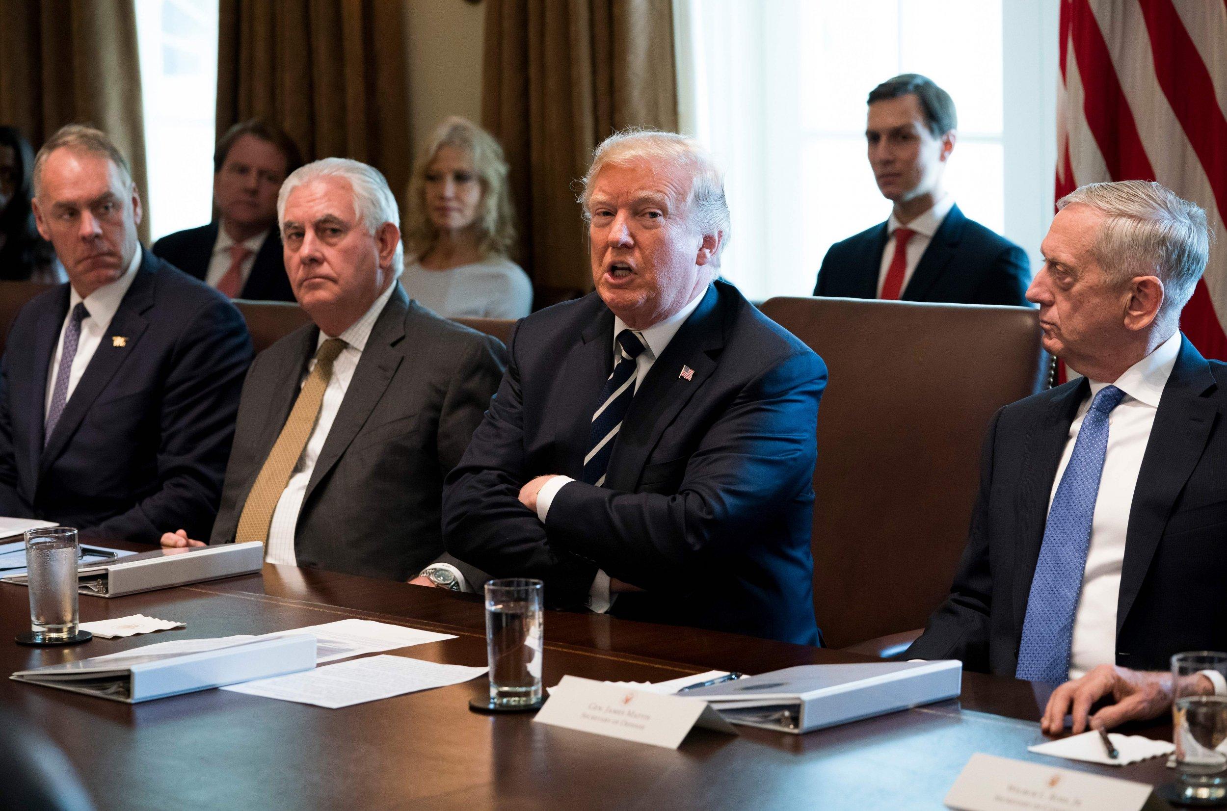 Donald Trum,p, Rex Tillerson, Jim Mattis