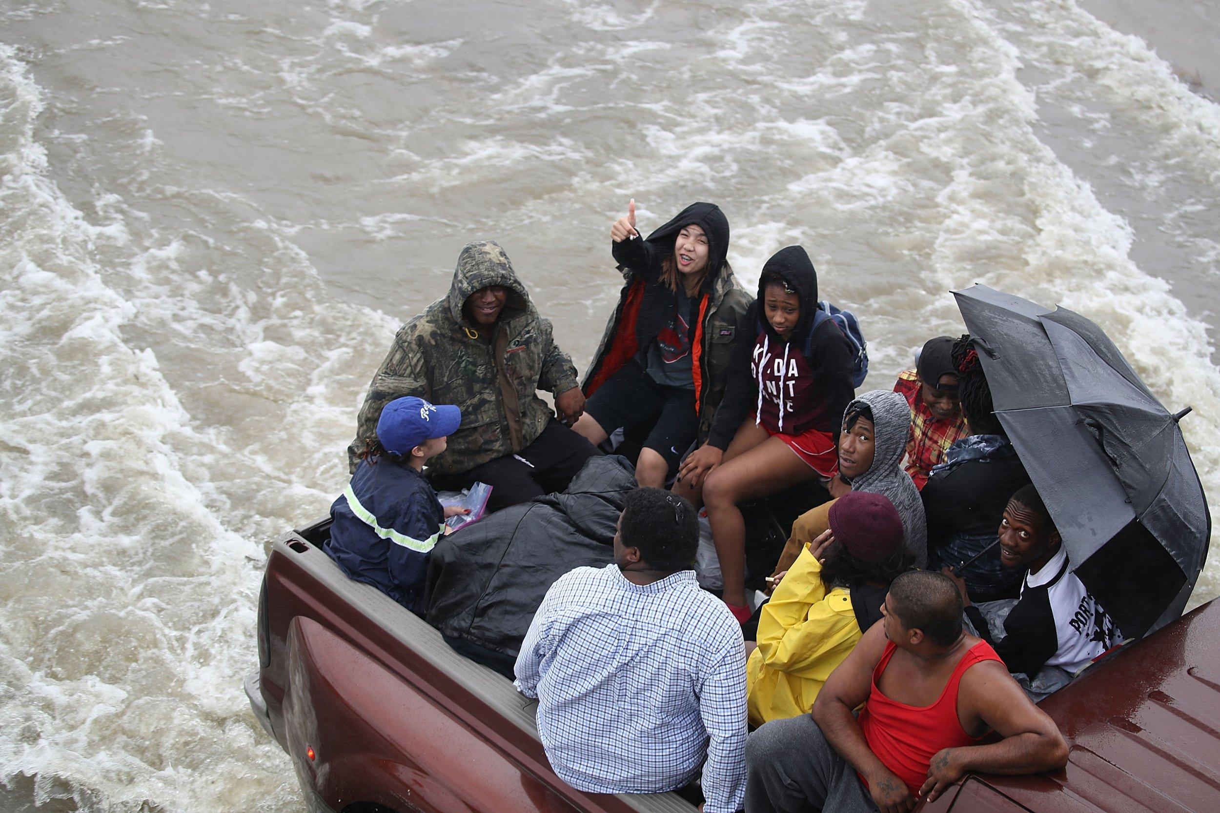 Harvey Flooding Raft