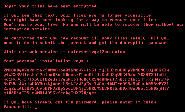 bad rabbit ransomware message