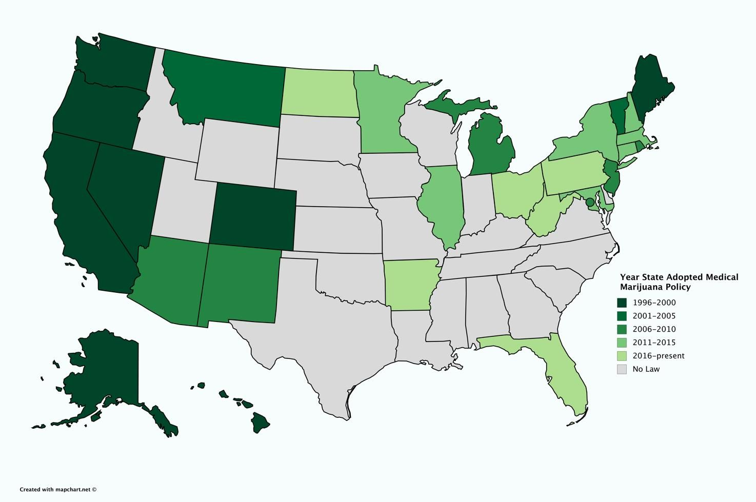 Medical Marijuana States Map 2016.How To Tell Whether Your State Is Ripe For Legalizing Medical Marijuana