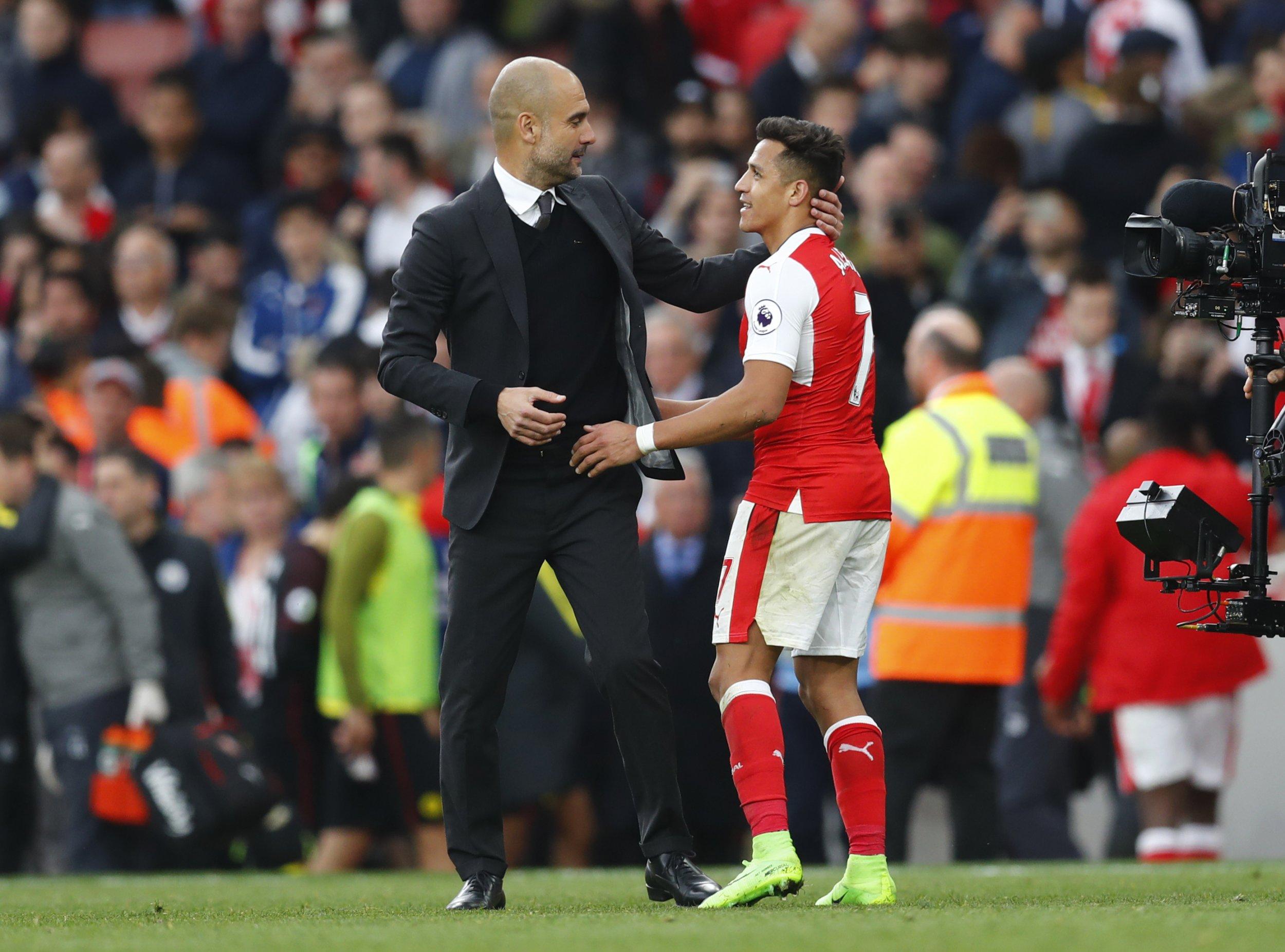 Guardiola and Sanchez