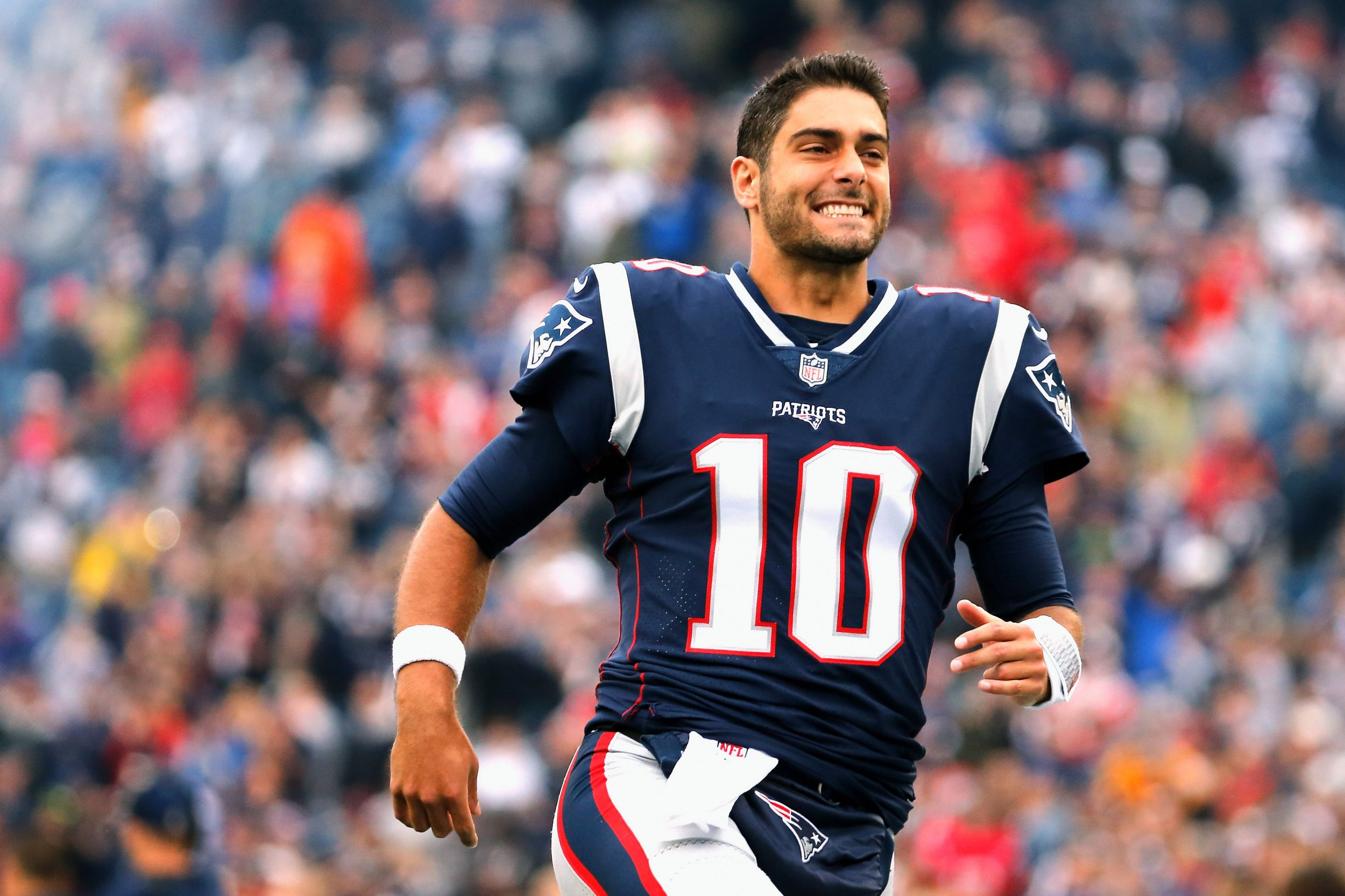 Former New England Patriots quarterback Jimmy Garoppolo.