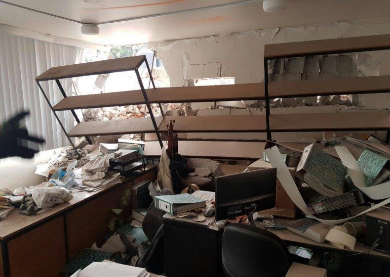 Mexico City Earthquake Damage Interior