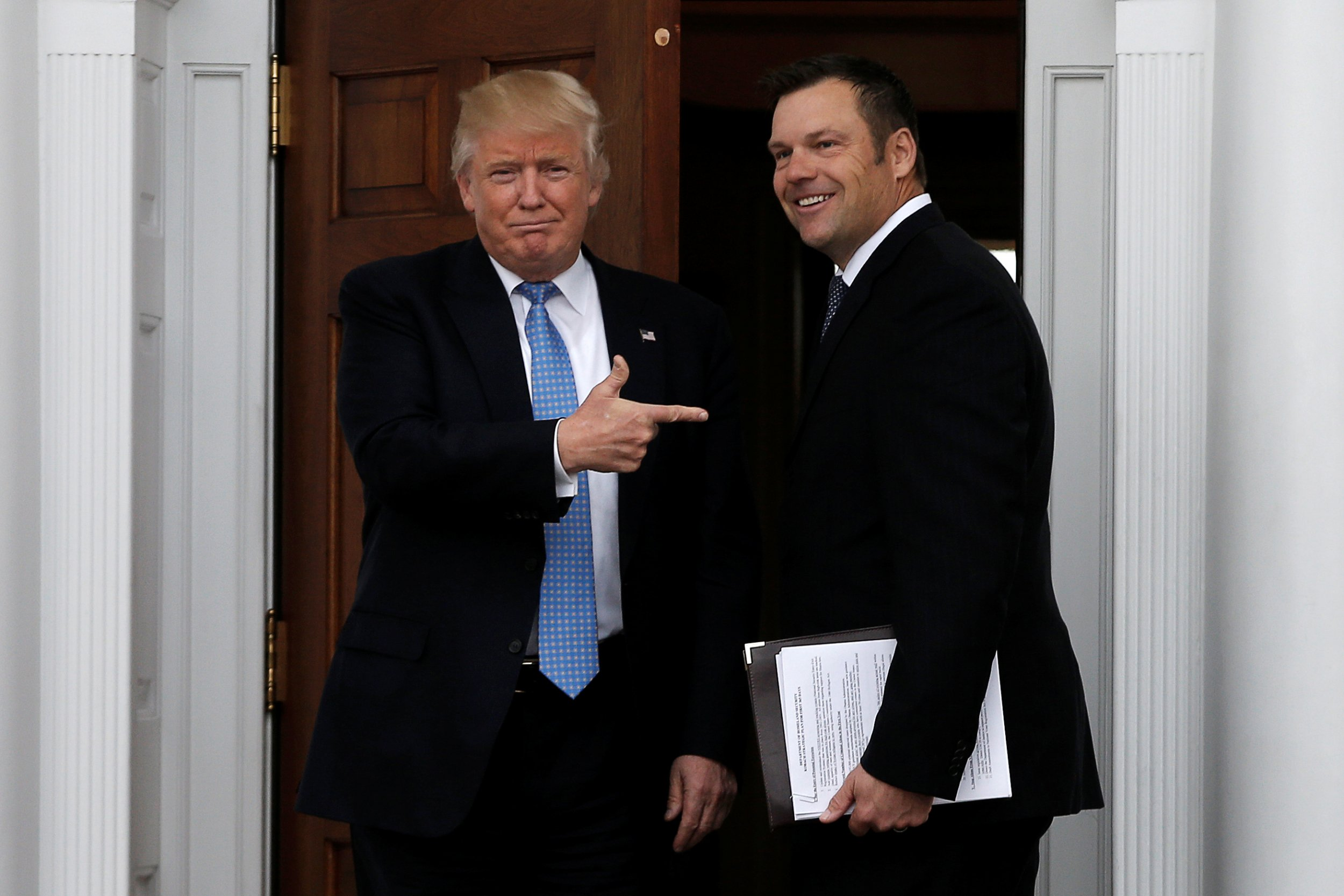 trump and kobach