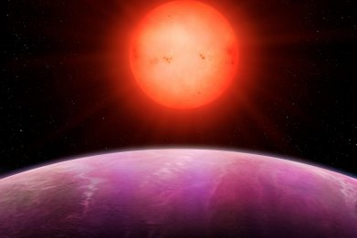 giant planet sunrise