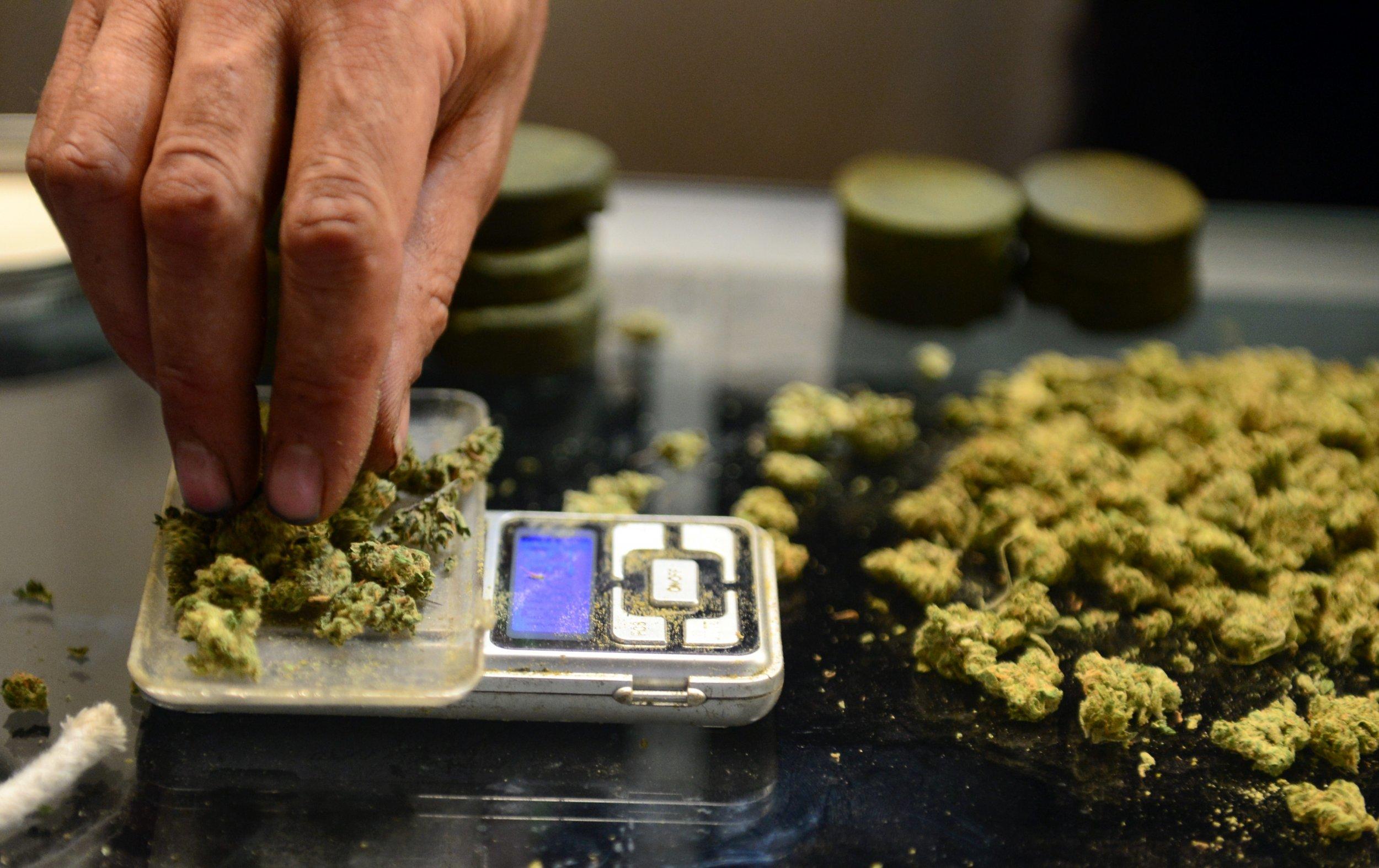 Marijuana weighing