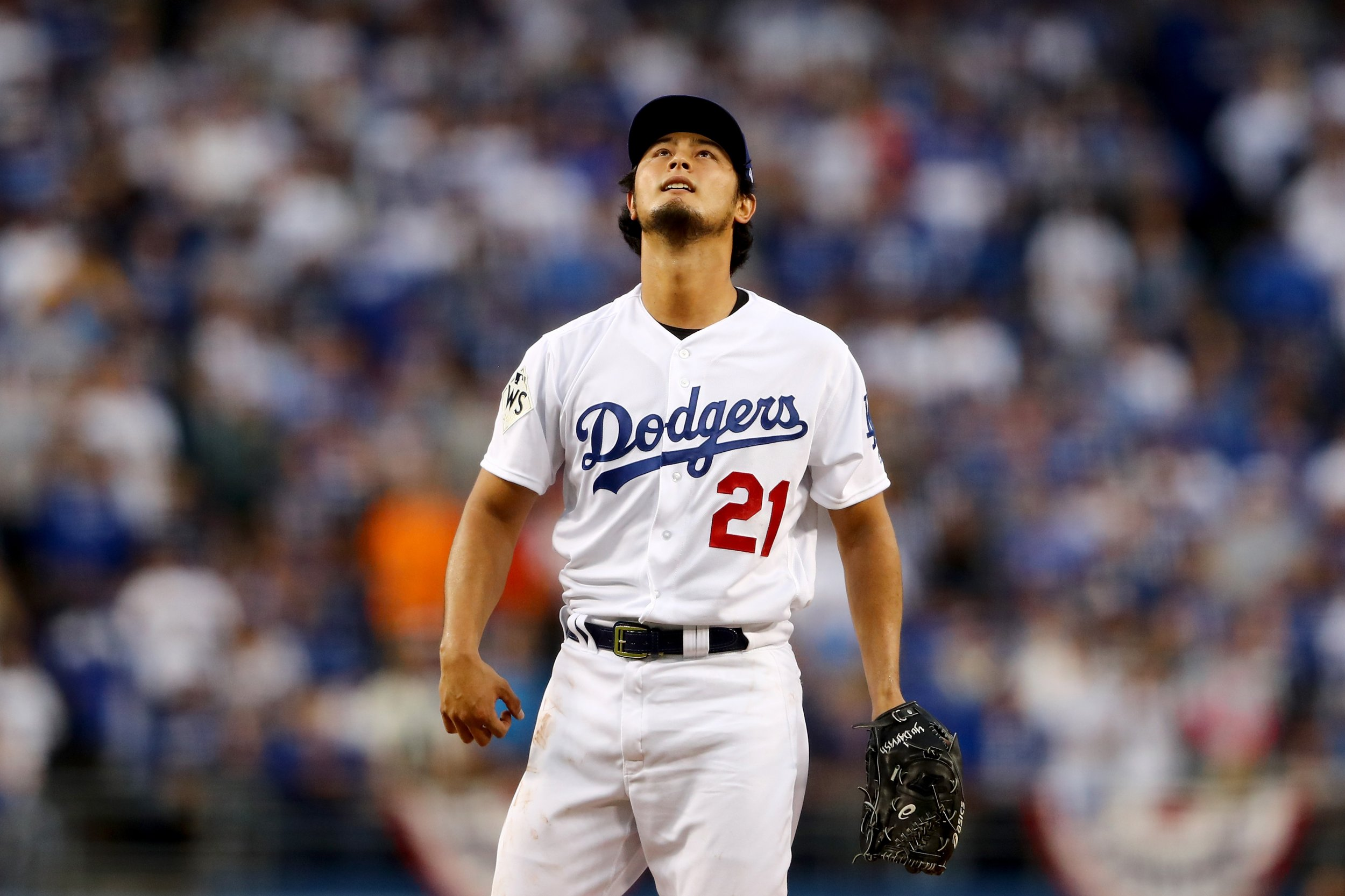 L.A. Dodgers pitcher Yu Darvish.