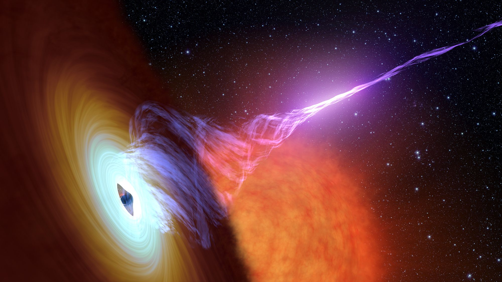 NASA is watching black holes shoot plasma rays into space as they eat stars