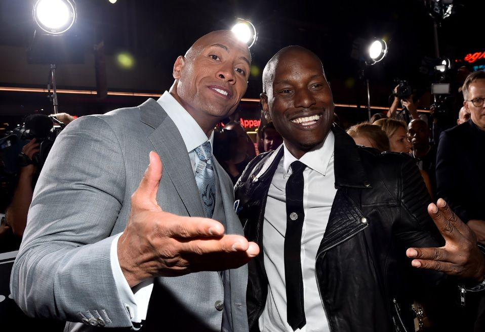Dwayne The Rock Johnson and Tyrese Gibson