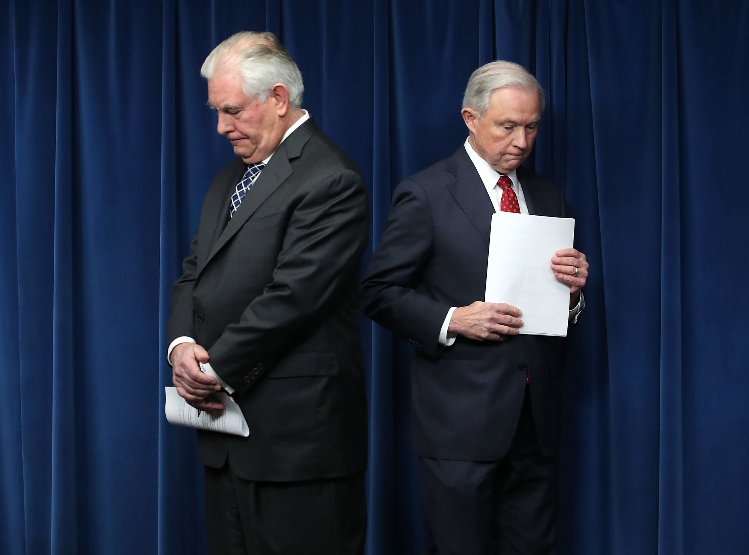 Rex Tillerson, Jeff Sessions