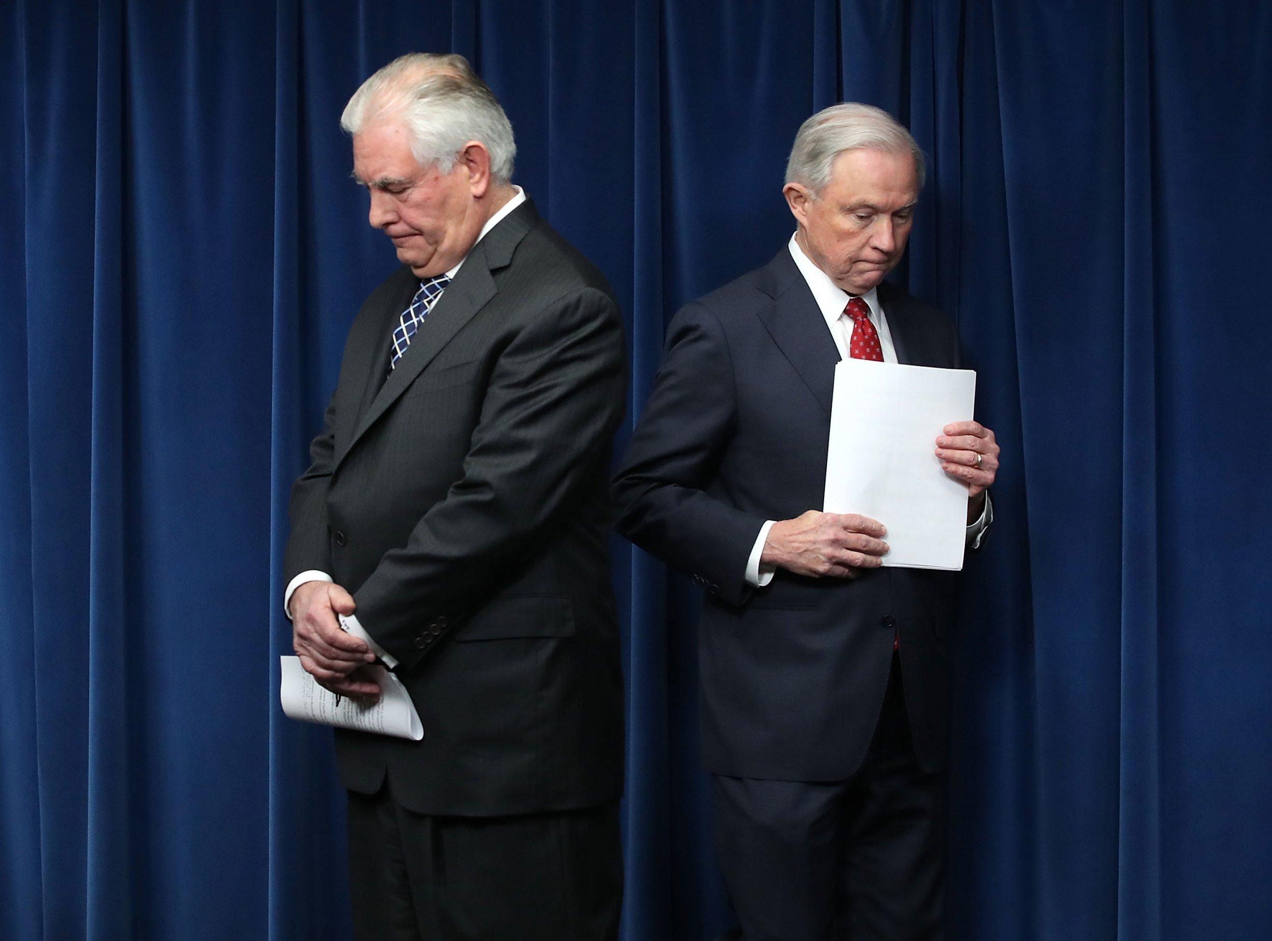 Rex Tillerson, Jeff Sessions