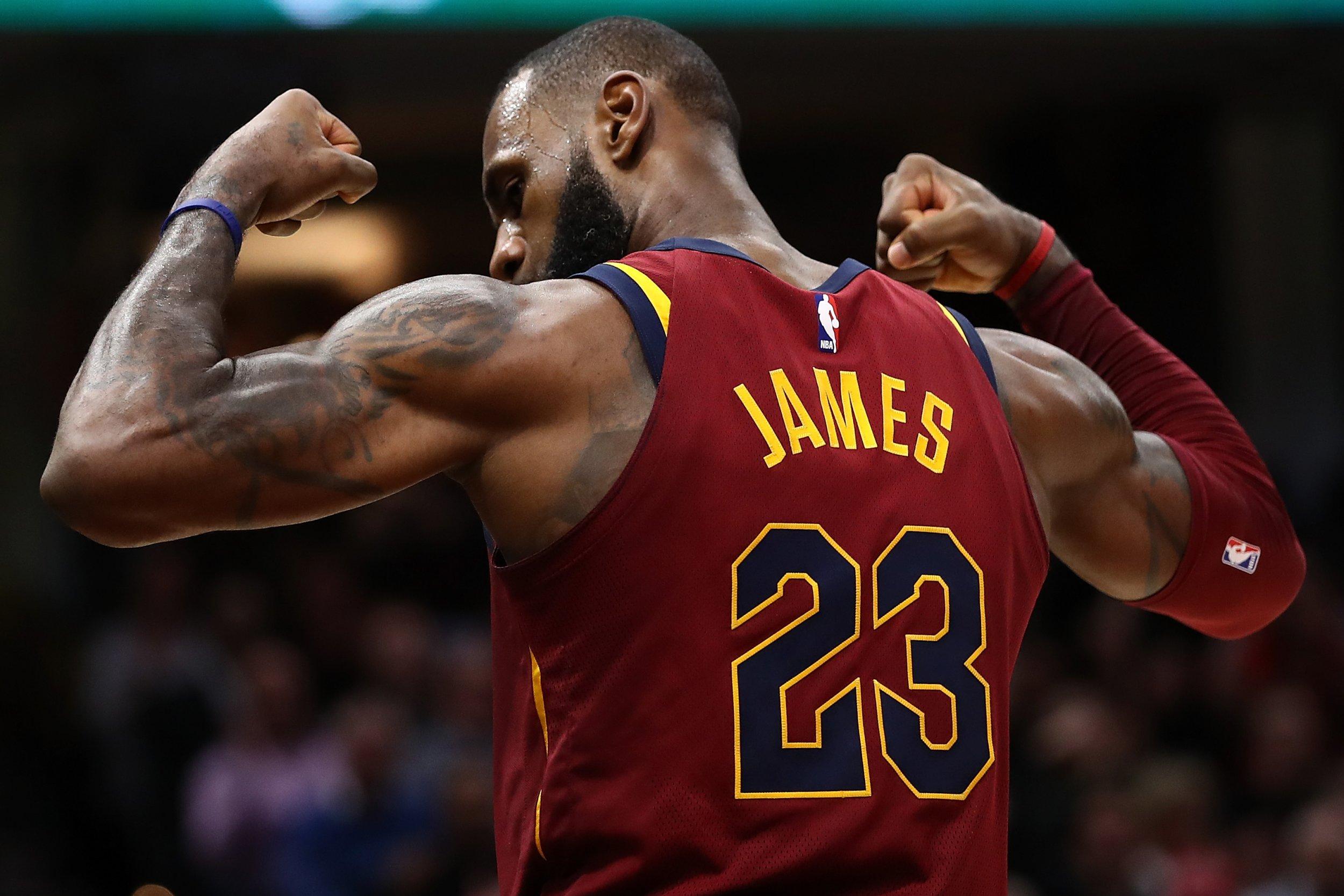 Cleveland Cavaliers star LeBron James.