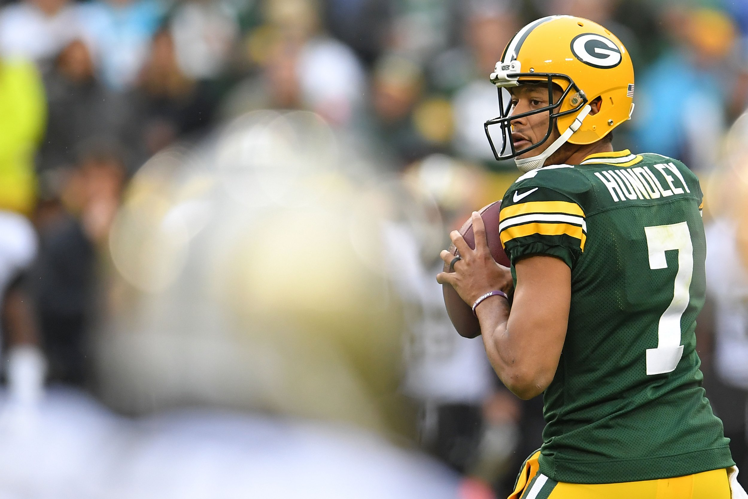 Green Bay Packers quarterback Brett Hundley.