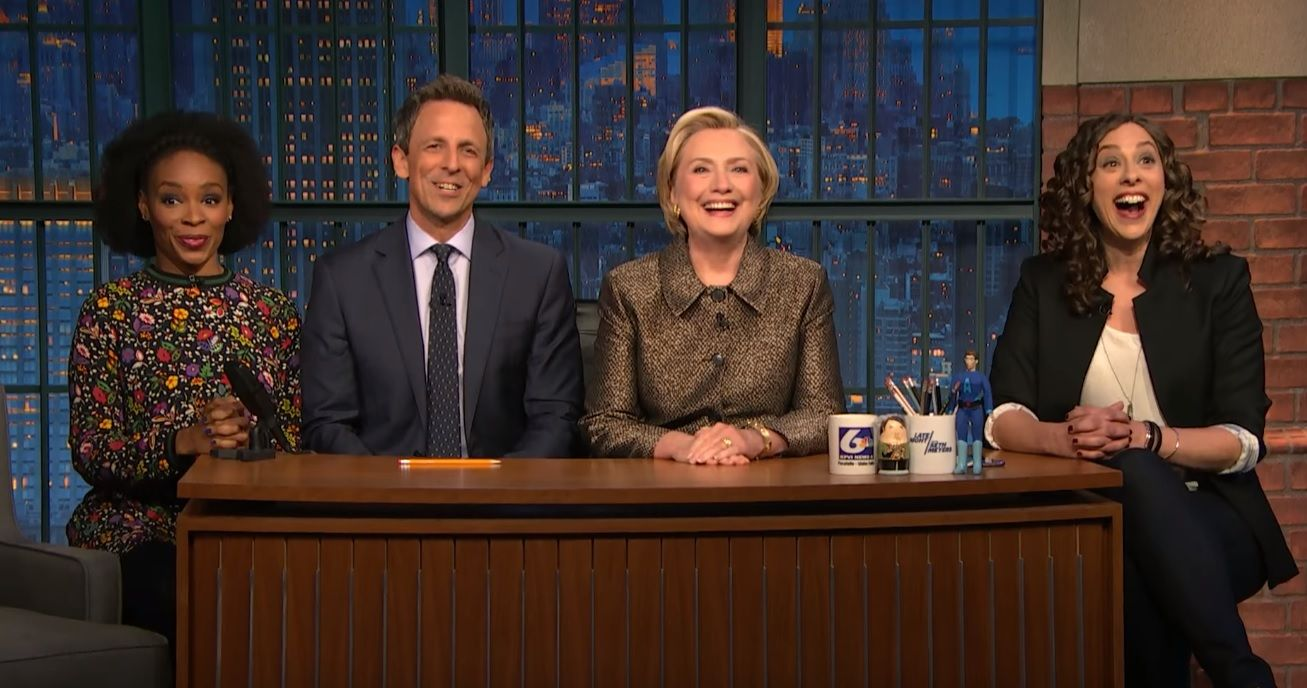 Hillary Clinton on Seth Meyers