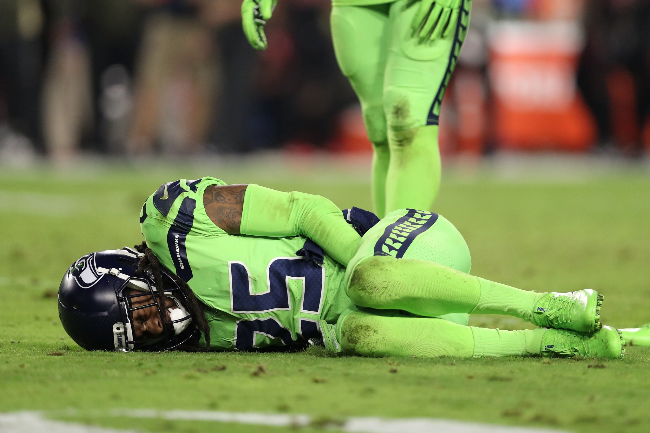 Seattle Seahawks cornerback Richard Sherman.