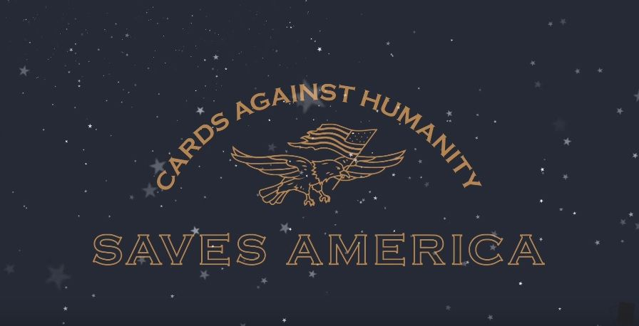 Cards Against Humanity Saves America logo