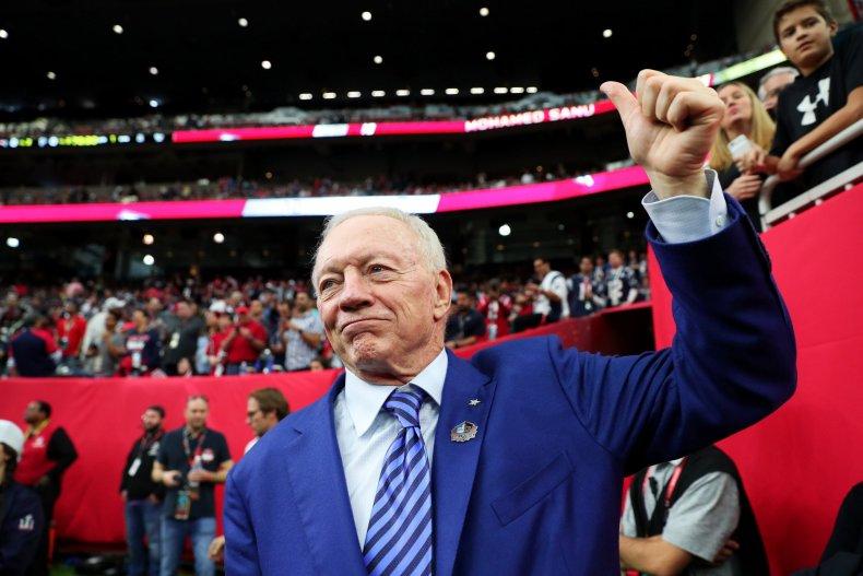 Dallas Cowboys owner Jerry Jones.