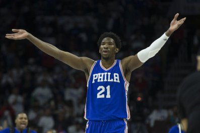 Philadelphia 76ers center Joel Embiid.