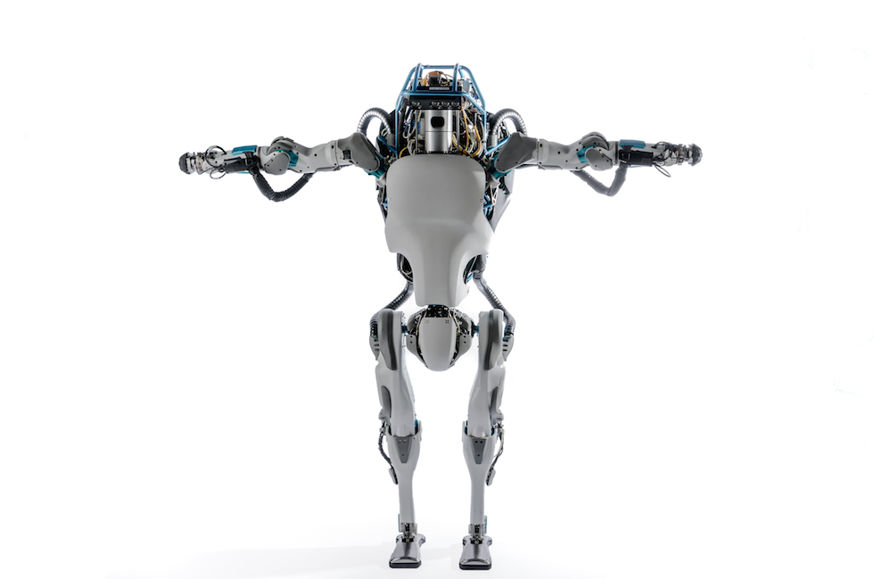 Boston Dynamics robot leaps, does back flips