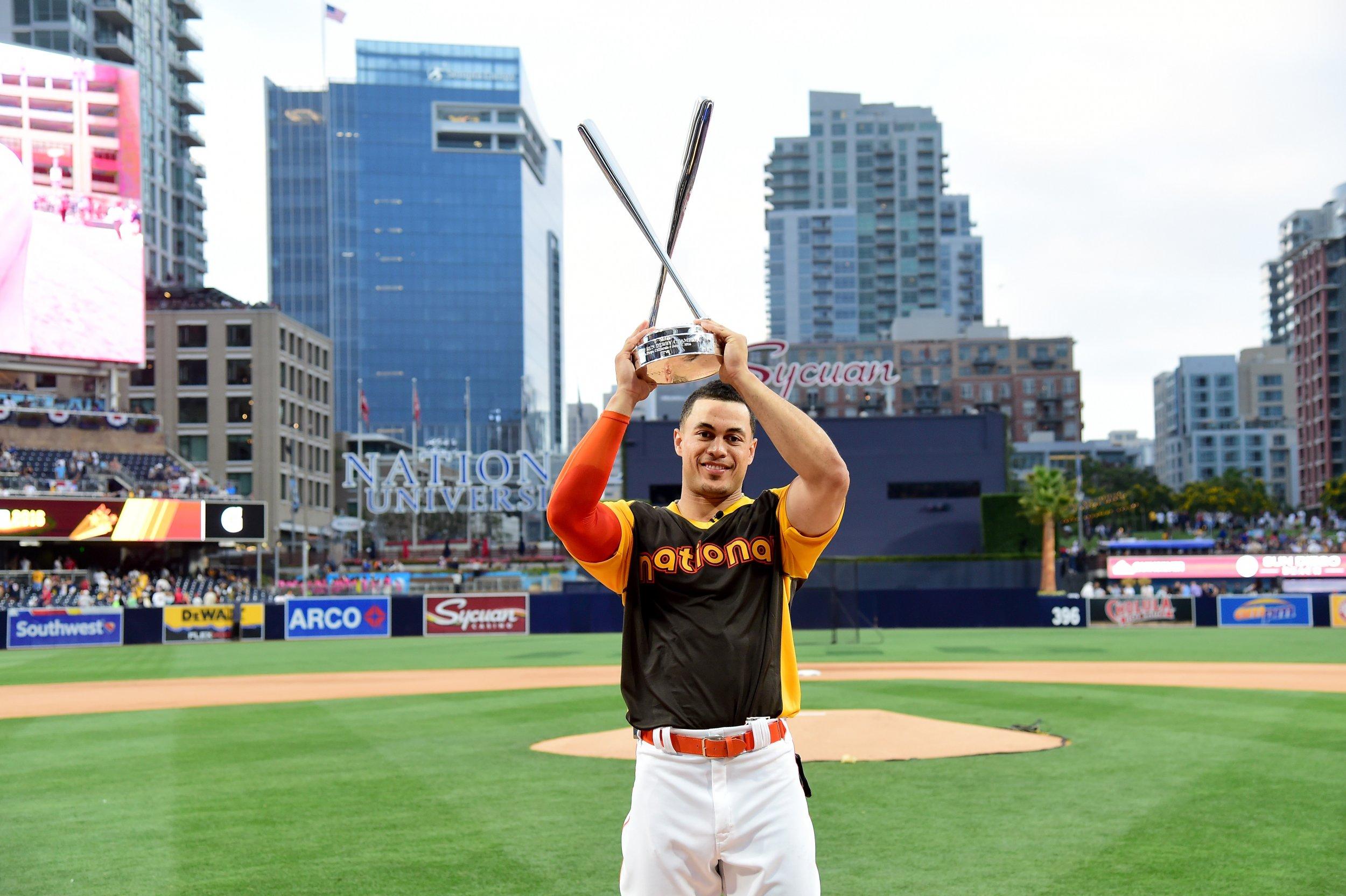 NL MVP award-winner Giancarlo Stanton.