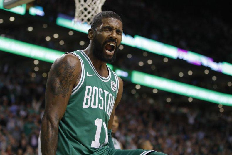 Boston Celtics point guard Kyrie Irving.