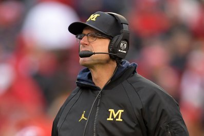 University of Michigan head football coach Jim Harbaugh.