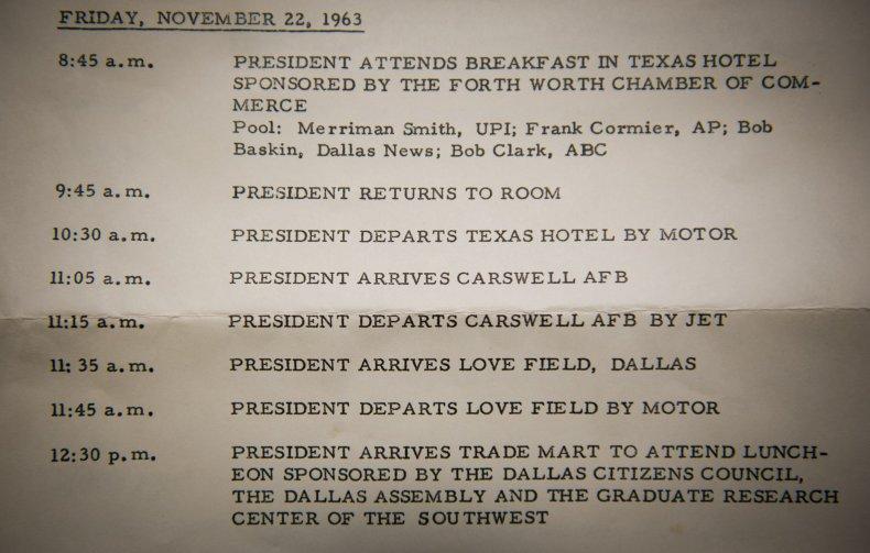 JFK Schedule