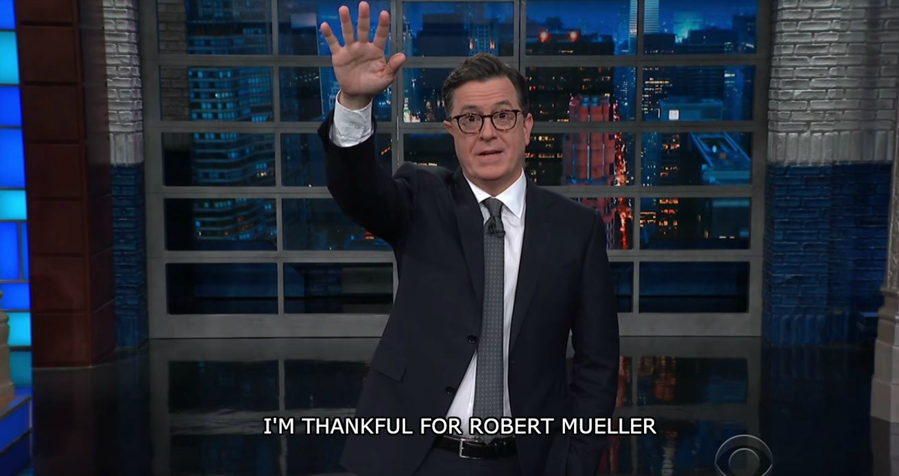 Happy Trumpsgiving, from Stephen Colbert