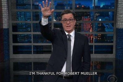 Happy Trumpsgiving, from Stephen Colbert