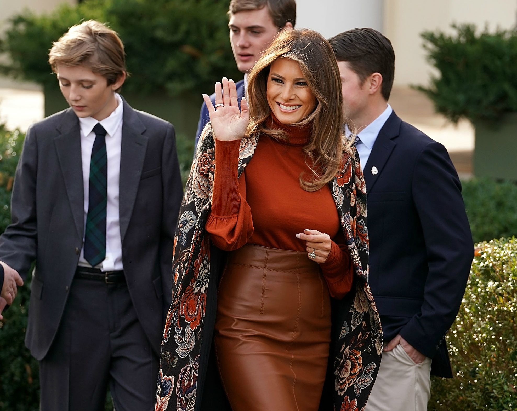 Melania Trump wears Stella McCartney coat