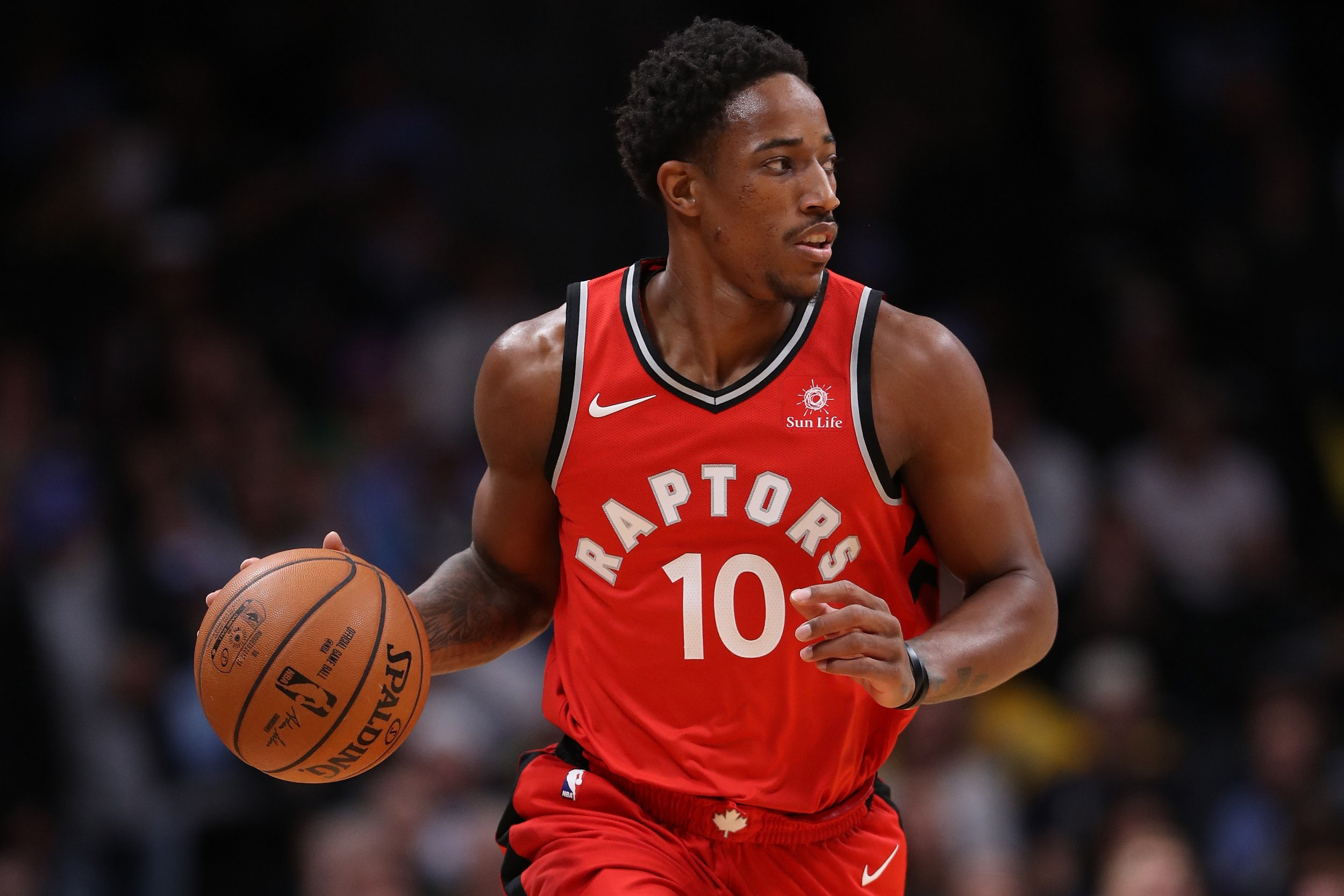 Toronto Raptors shooting guard DeMar DeRozan.