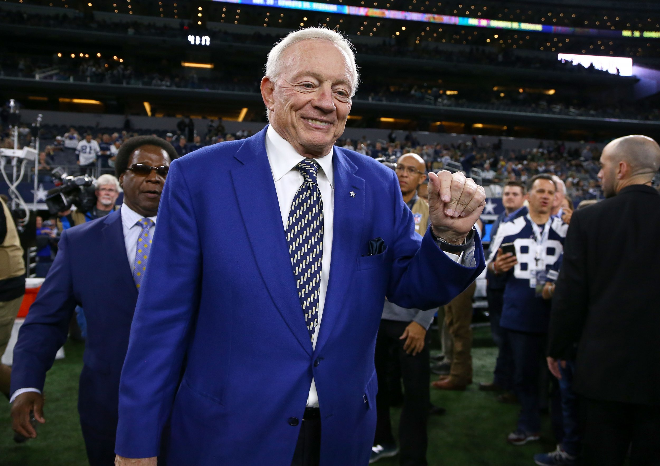 Jerry Jones, owner of the Dallas Cowboys, at AT&T Stadium in Arlington, Texas, November 19.