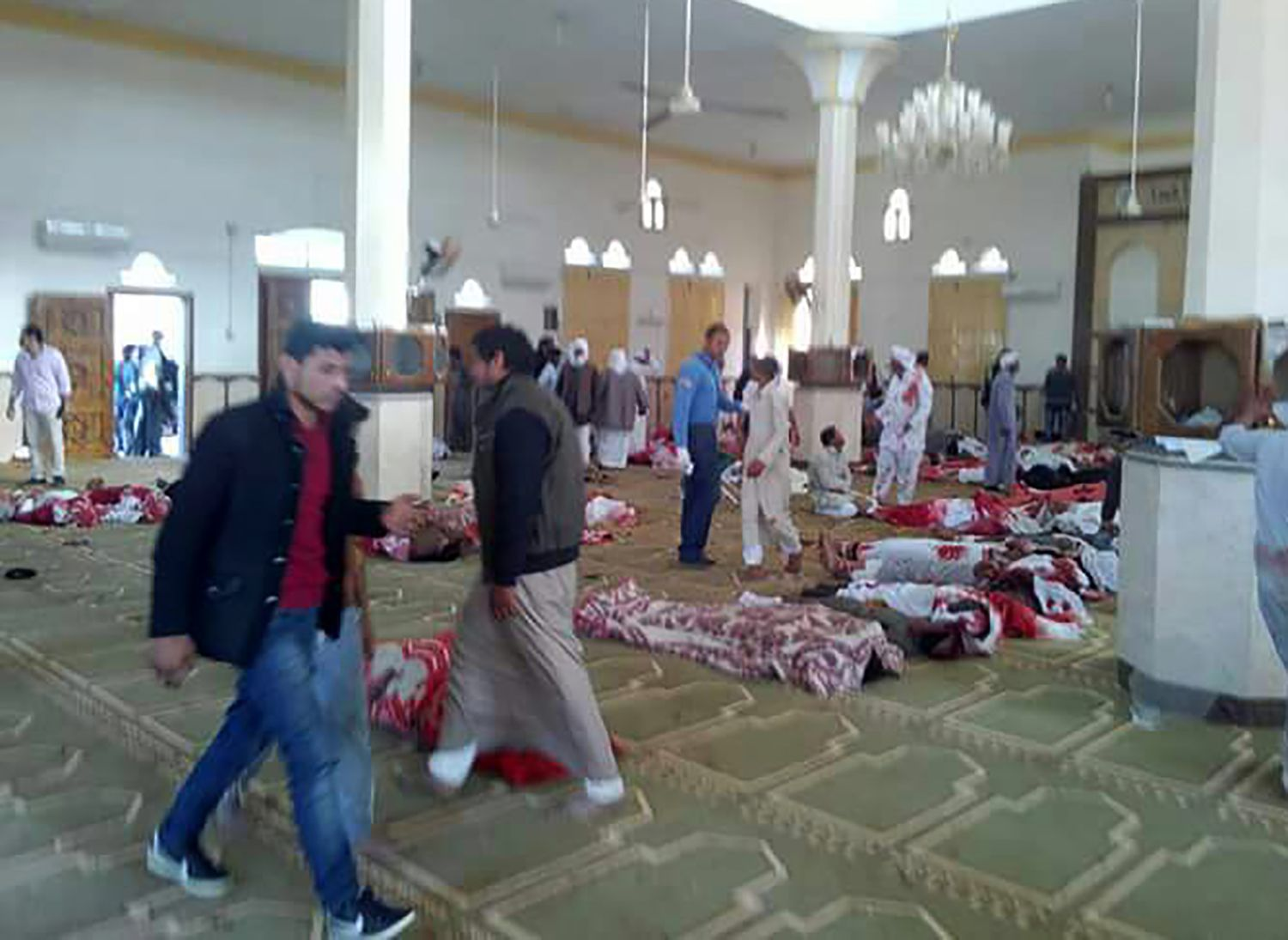 Photos: Hundreds killed in Egyptian mosque in country's worst terror attack, world leaders condemn violence