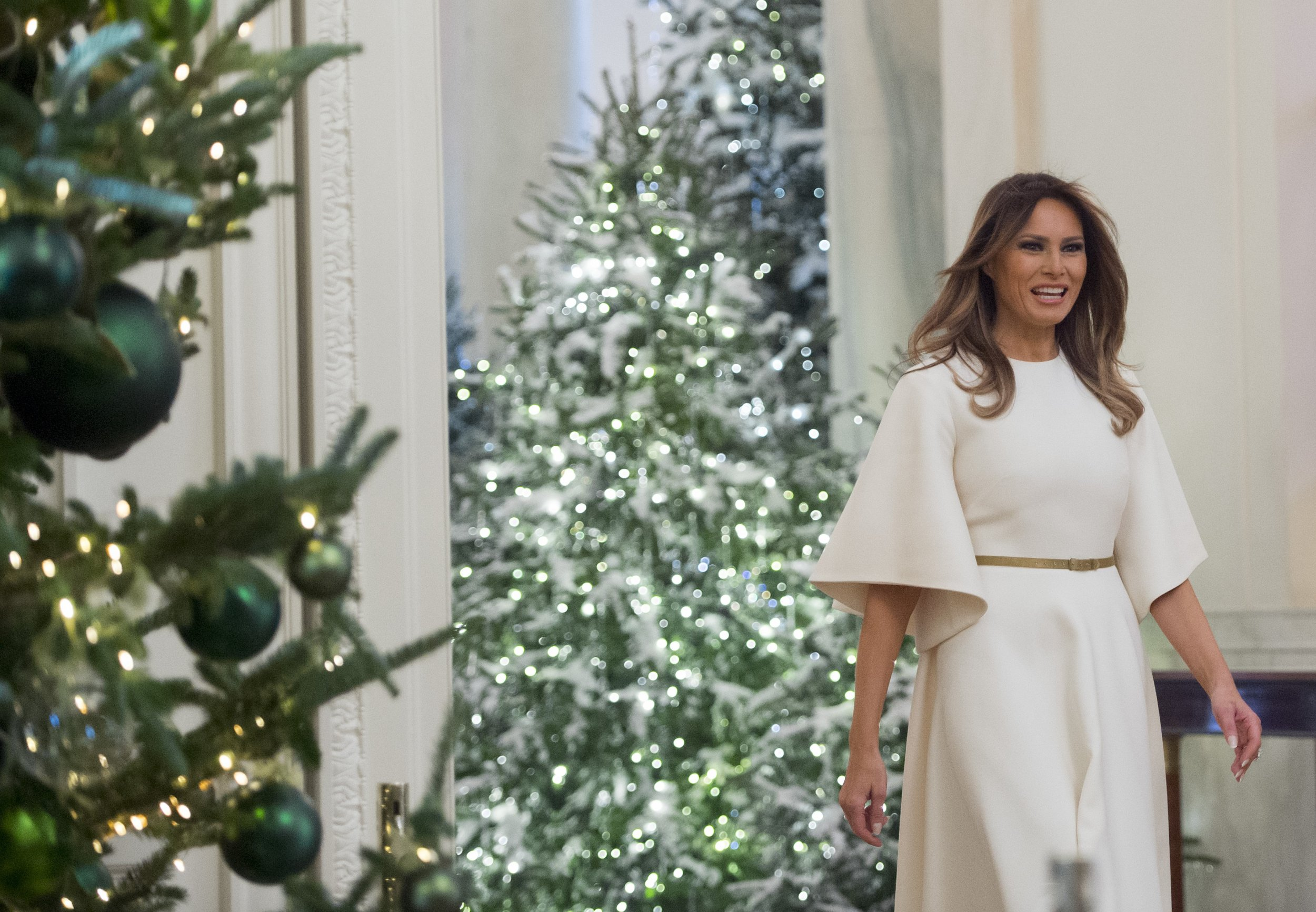 Whitehouse Christmas Decorations.Melania Trump S Christmas Decorations At The White House